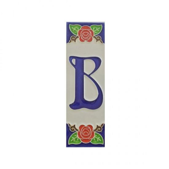 Ceramic letter B