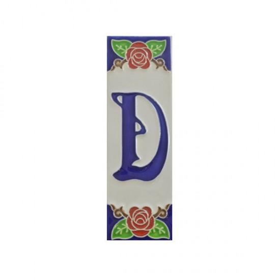 Ceramic letter D