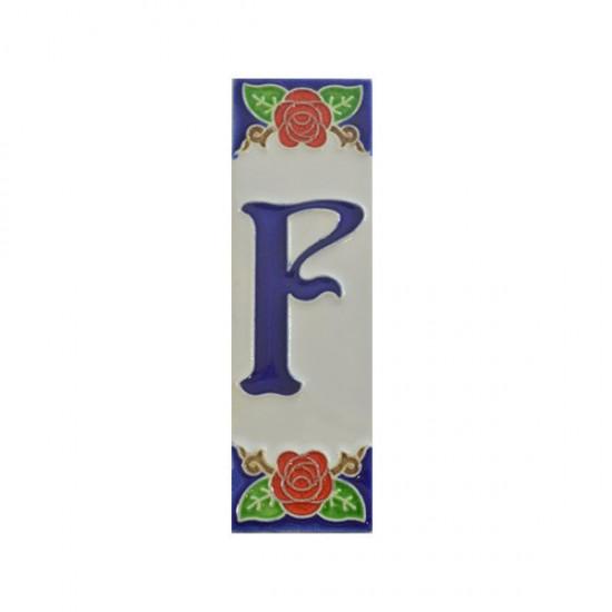 Ceramic letter F