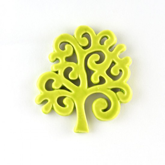 Tree of Life magnet cm7 acid green