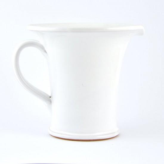 White ceramic jug 14cm