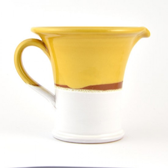White honey ceramic jug 19cm