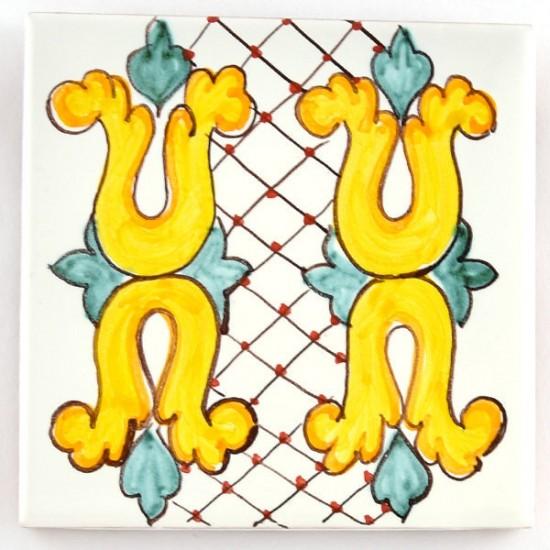 Ceramic Tile 10x10cm riggiola/cementina 25