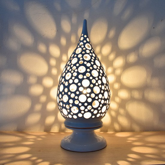 Pointed lamp with holes 50cm