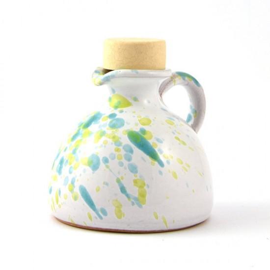 Ceramic oil cruet 100ml light blue green