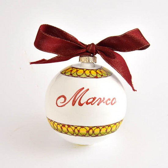 Ceramic christmas ball with name