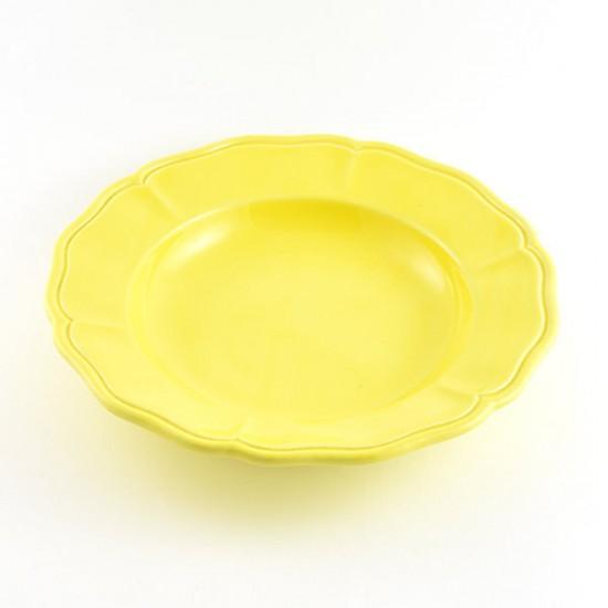 Martina yellow baccellato soup plate Ø24cm