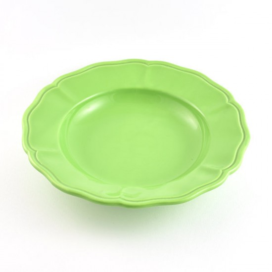 Acid green baccellato soup plate Ø24cm