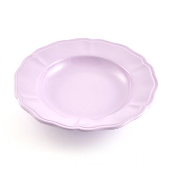 Violet baccellato soup plate Ø24cm