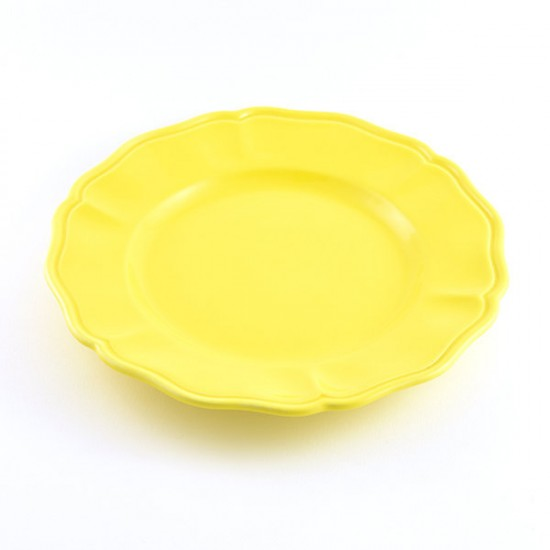 Martina yellow baccellato fruit plate Ø21cm