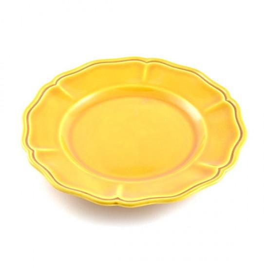 Honey baccellato flat plate Ø26cm
