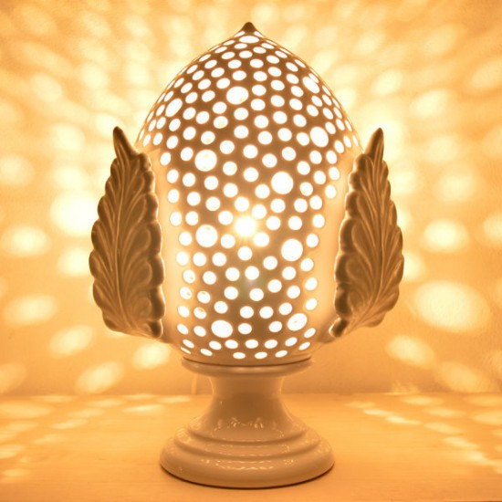Pumo lamp 27cm with leaves