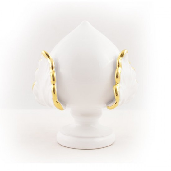 White border gold pumo pinecone 20cm