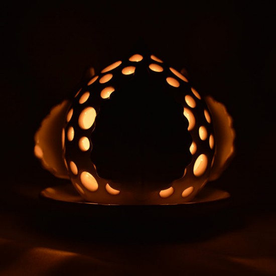 Pumo candle holder 11cm leaves