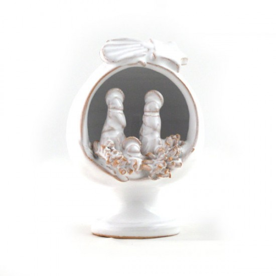 White Pumo nativity 7cm