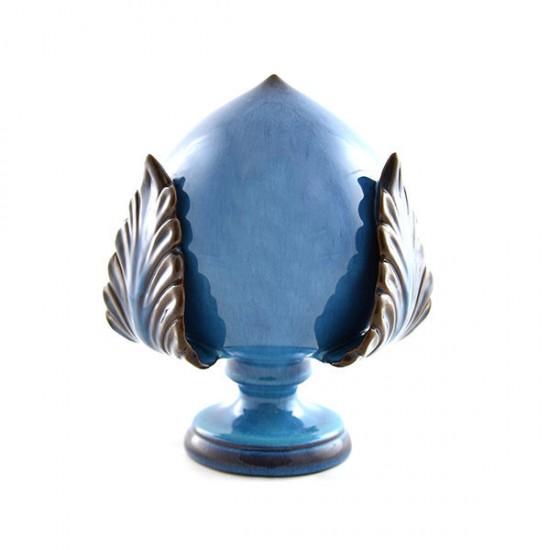 Shiny blue pumo pinecone 35cm
