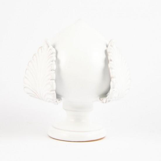 Ostuni white pumo pinecone 14cm