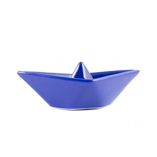 Otranto blu ceramic boat