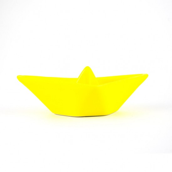 Martina yellow ceramic boat