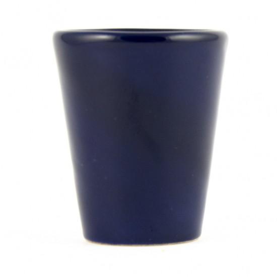 Dark blue limoncello glass