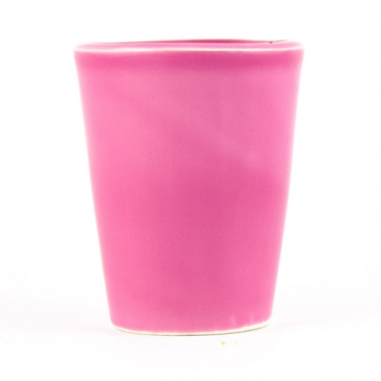 Antique pink limoncello glass