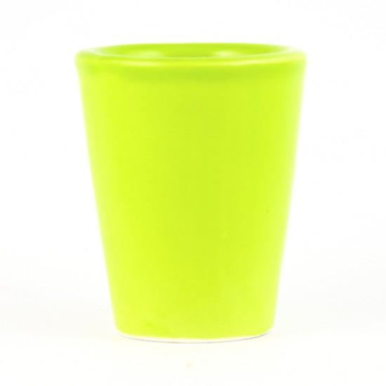 Acid Green limoncello glass