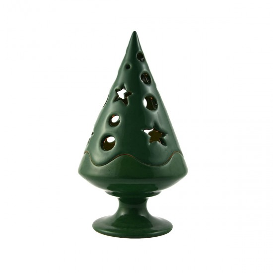 Christmas tree green candle holder
