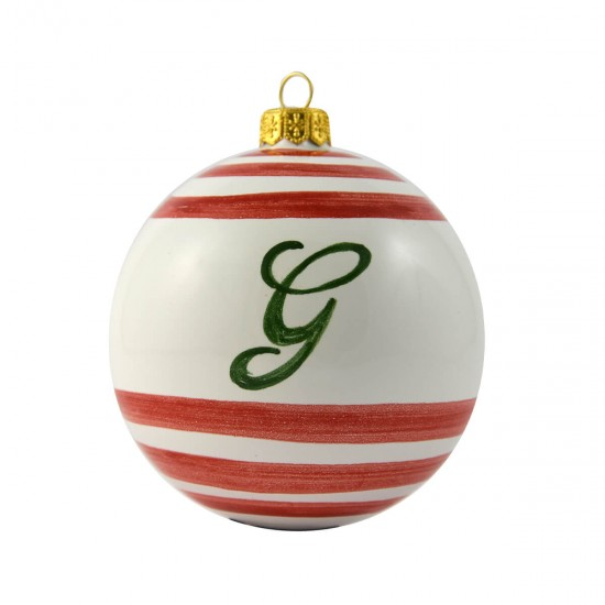 Ceramic christmas ball with initial