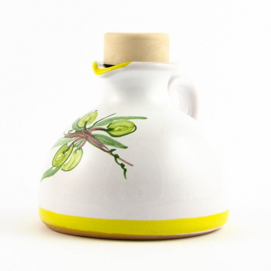 Ceramic oil cruet 100ml olive
