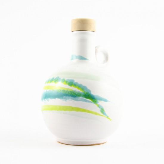 Ceramic oil cruet 100ml AC design scratch acid green