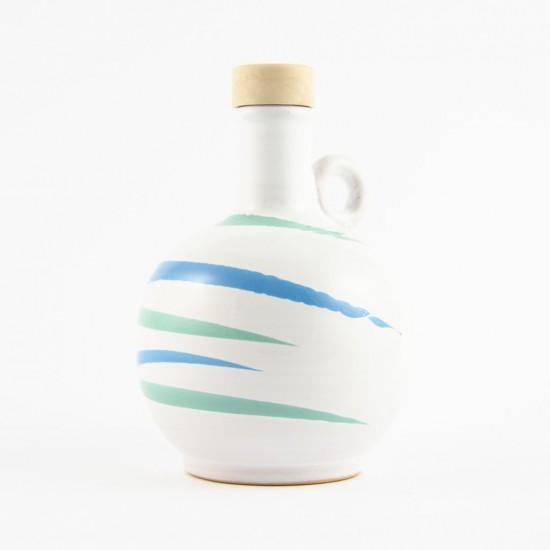 Ceramic oil cruet 250ml AC design scratch turquoise