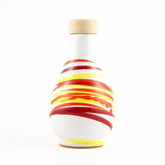 Ceramic oil cruet 100ml AC design scratch orange