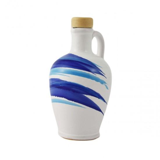 Ceramic oil cruet 250ml AC design blue