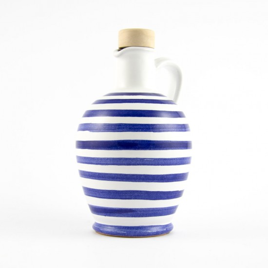 Ceramic oil cruet 250ml blu lines