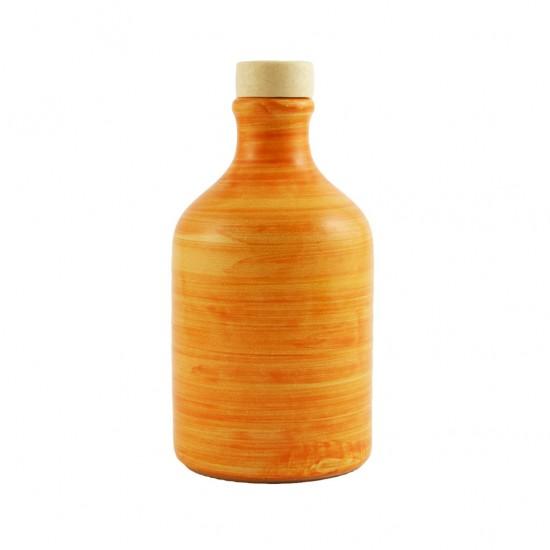 Ceramic oil cruet 100ml brushed orange