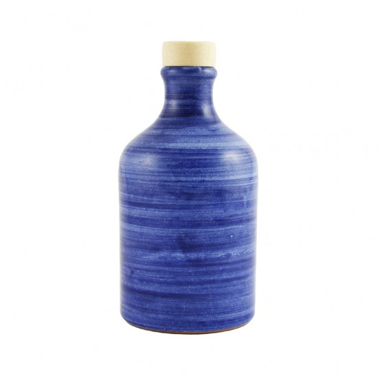 Ceramic oil cruet 100ml brushed blue