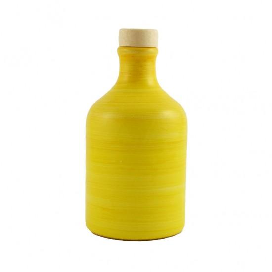 Ceramic oil cruet 100ml brushed yellow