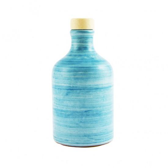 Ceramic oil cruet 100ml brushed turquoise