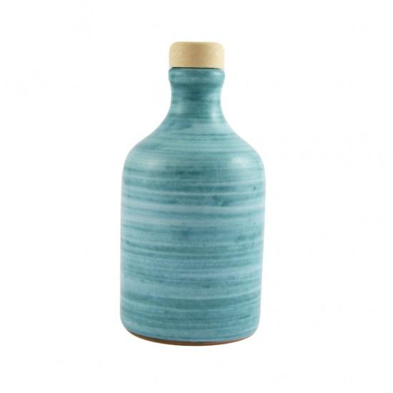 Ceramic oil cruet 100ml brushed Locorotondo Green