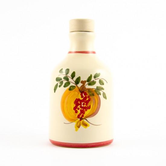 Ceramic oil cruet 100ml ivory pomegranate