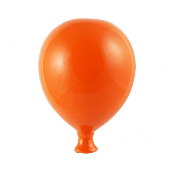 Orange ceramic balloon 8cm