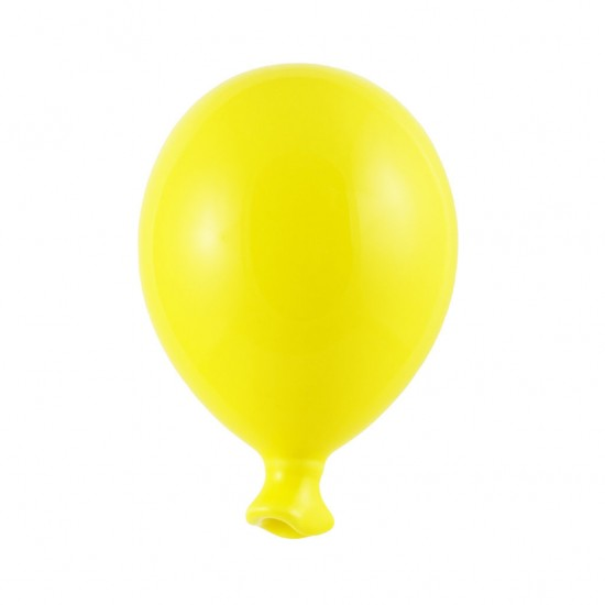 Yellow ceramic balloon 9cm