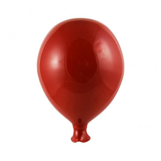 Red ceramic balloon 9cm
