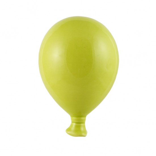 Acid green ceramic balloon 12cm