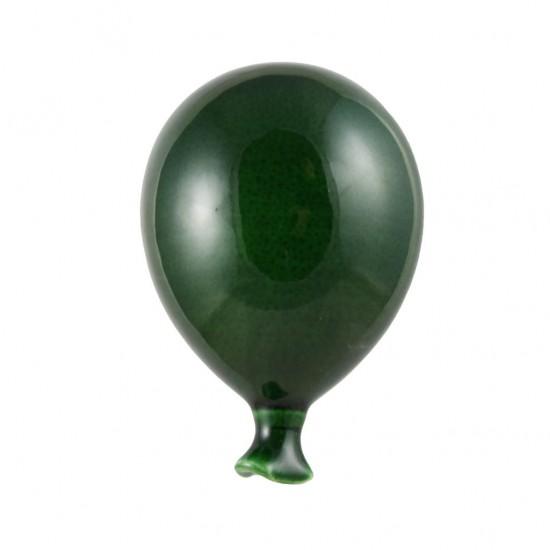 Shabby green ceramic balloon 9cm
