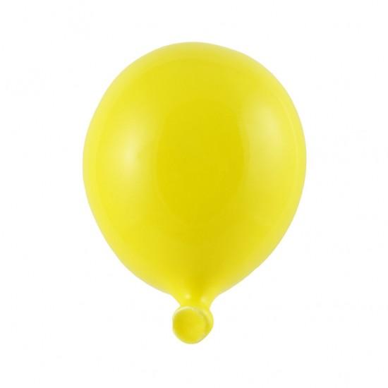 Yellow ceramic balloon 8cm