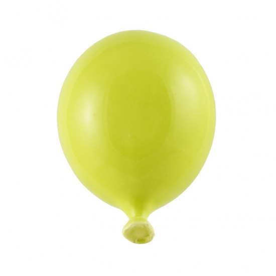 Acid green ceramic balloon 11cm