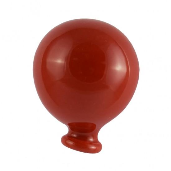 Red magnetized ceramic balloon