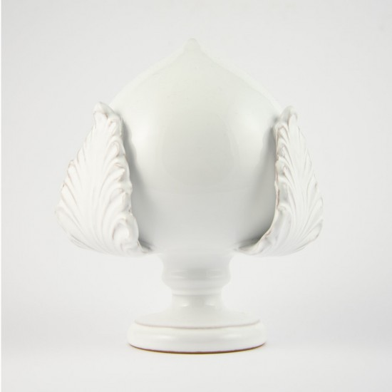 Ostuni white pumo pinecone 17cm